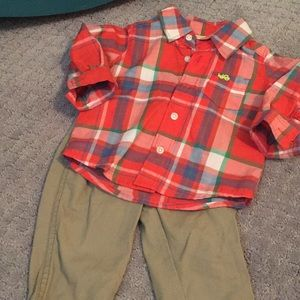 Carters Button down and khaki outfit